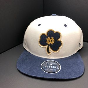 Zephyr Norte Damn Fighting Irish SnapBack Hat NWT
